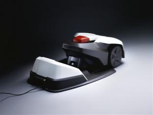 Rasenroboter 305 mit Ladestation von Husqvarna Ausführung Polarweiß