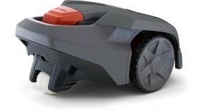 Automower 305 in grau von hinten