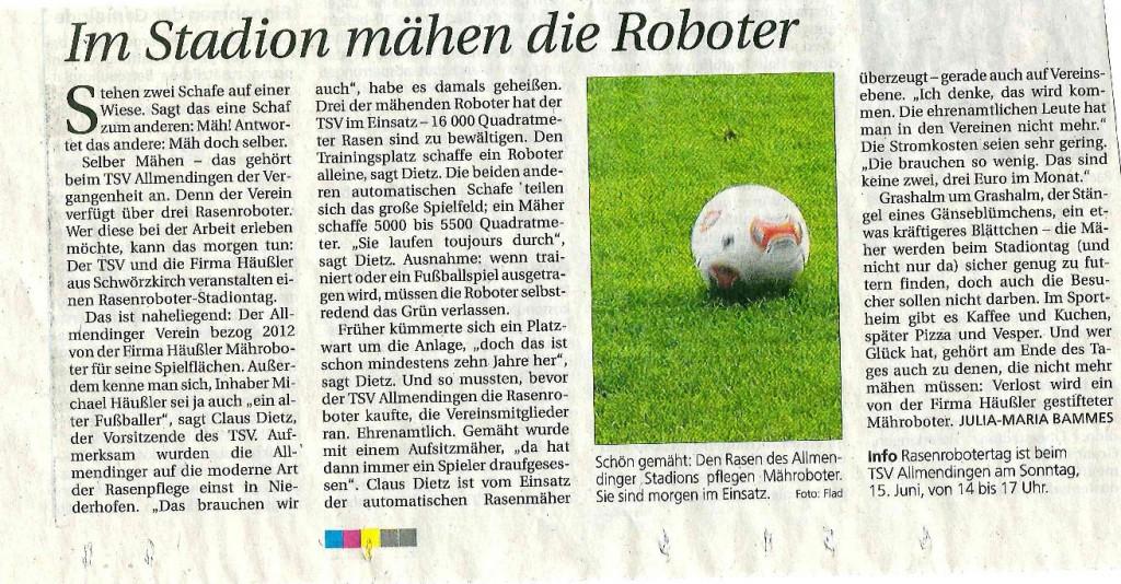 Rasenroboter SW-Presse
